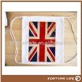 Custom cordão saco de algodão pequena/bolsa com o logotipo