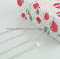 La joyería de plata, plata cuerda de la cadena collares