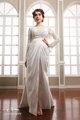 manga longa aberta frente verso ver através do laço o comprimento total da elegant wedding dress 2014