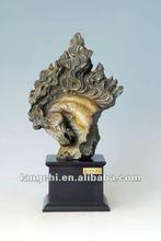 Fundición de bronce de cabeza de caballo de bronce estatua escultura caballo tpal- 003
