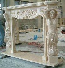 de alta calidad repisa de la chimenea de mármol