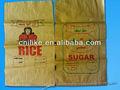 impressão de alta qualidade pp saco tecido amarelo