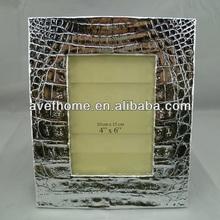 poli resina de plata marco de fotos