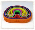 Eco- ambiente 100% pulseras de silicona personalizadas con el logo grabado
