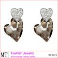 la moda de joyería de cristal del corazón bisuteria