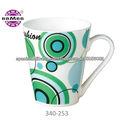 Porcelana personalizados 12 oz tazas con hermosa decoración