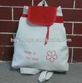 blanco mochila de lona