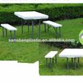 rectangular de plástico plegable de mesa