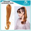 2014 nova chegada qingdao fábrica de cabelo preço aparência natural atacado perucas rabo de cavalo