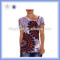 2015 verano camisetas de quemadura perzonalizadas de moda de mujeres todo impreso sublimación