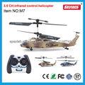 3ch helicóptero halcón negro modelo de avión rc con el girocompás