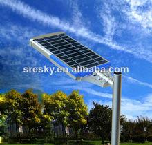 Hexagonal galvanizado Solar calle luminaria 20W sin poste