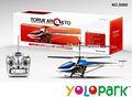 Plástico r/c avión con el giroscopio, juguete del helicóptero