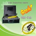 El precio de fábrica de la cámara de inspección de tuberías endoscopio CCTV Drenaje Pipe Detectar cámara de vídeo tecz710