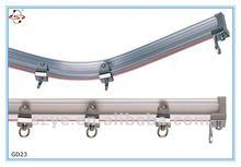 gd23 flexível de alumínio trilho de cortina para a fase de cortinas