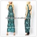 Novo efeito tingido laço maxi vestido casual, modelos de vestido meninas adolescentes( ylq03056)