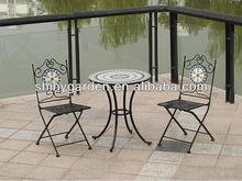 muebles al aire libre muebles bistro con decoración de azulejos