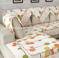 Impreso de algodón hojas anti- deslizamiento sofá cubierta