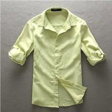 venta al por mayor 2014 nuevo diseño tex casual los hombres camisas de lino