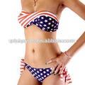 Sexy girl micro biquini, sexy bandeira americana swimwear