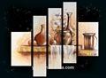 Pcs 5 panel de decoración del hogar florero grupo de pintura al óleo pl-480