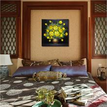 Arte paisaje natural moderna pintura mural flores abstractas