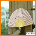 Preciosa seda de bambú Mujeres Abanico plegable al por mayor de ZTMZ-F028