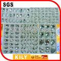 piedras de cristal de ropa para coser plaza en piedras de cristal