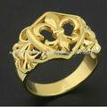 18K anillo de oro de la manera plateó