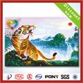 2014 la venta caliente pintura al óleo de los animales de tigre sobre lienzos
