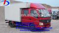 4 ton doble cabina de luz mini móvil de foton y alimentos van de camiones fabricados en china para la venta