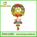 Adorno de navidad colgante, navidad colgando santa& con corona de reno para la decoración de la pared