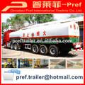 Precio attactive 3 ejes de acero de gasolina remolque cisterna/líquido remolque de transporte/diesel del tanque acoplado