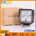 CREE LED de la luz del trabajo de 40W 9-30V 3200 del lumen LED Lámparas de trabajo para maquinaria pesada