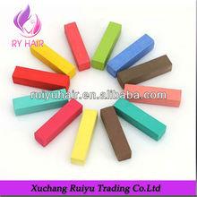 Los colores del arco iris temporal del cabello color tiza/perfecto suave de pelo tinte pasteles