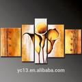 زهرة الزنبق 3 قطعة ساخنة الديكور جدار اللوحة الفنية