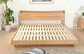 moderno y minimalista de roble blanco de muebles de madera muebles de madera cama doble jp001