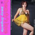 fabricante de la muñeca de la ropa interior sexy sujetador de encaje del camisón amarillo g string para mujeres