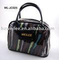Wl-jc025 100% polyester à rayures colorées sac à main avec pvc transparent