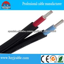 Popular 4mm2 cable solar, cable eléctrico de fabricación en Shanghai, China