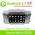 Estrella lsq puro android 4.1 toyota hilux 2012 estéreo del coche dvd con/bluetooth/radio/tv/gps/3g/android! De buena calidad!