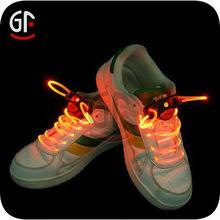 alibaba expresar la promoción diseño único colorido led cordones de los zapatos al por mayor