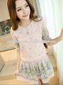Pasos bastante 2014 corto mangas vestido de gasa patrones/guangzhou fabricante de prendas de vestir
