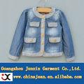 la moda de nueva chaqueta de mezclilla niñas chaqueta de mezclilla azul jxk31650