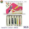 pintura de aerosol de acrílico no tóxico [color acrílico 12ml 6color]