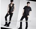 K-154 punk salvaje negro pantalones largos con el distintivo kampilan patrón