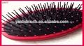 Paleta nueva jabalí de cerdas& de nylon de pelo cepillo de mango de plástico