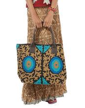 Vintage estilo bolso de mano, floral bordado bolso de mano, bolsos de noche