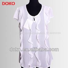 las señoras blusa de diseños de mangas cortas
