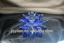 de vidrio de cristal de flores de loto vela titular de favores de la boda